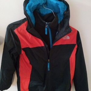 Boys The Northface jacket with fleece lining